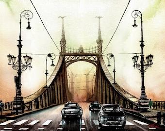 On the bridge of Budapest