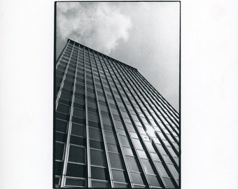 Architecture photo - vintage black and white photo - Enthused amateur photography still life and studies collection- building detail - tower