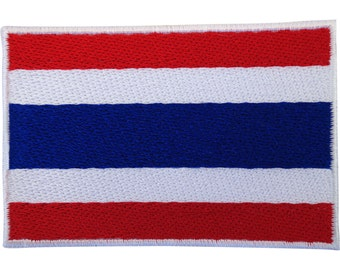 Thailand Flag Patch Iron Sew On Embroidered Badge Thai T Shirt Trousers Applique