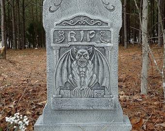 Evil Soul Studios Gargoyle RIP Cemetery Tombstone Halloween Prop Decoration