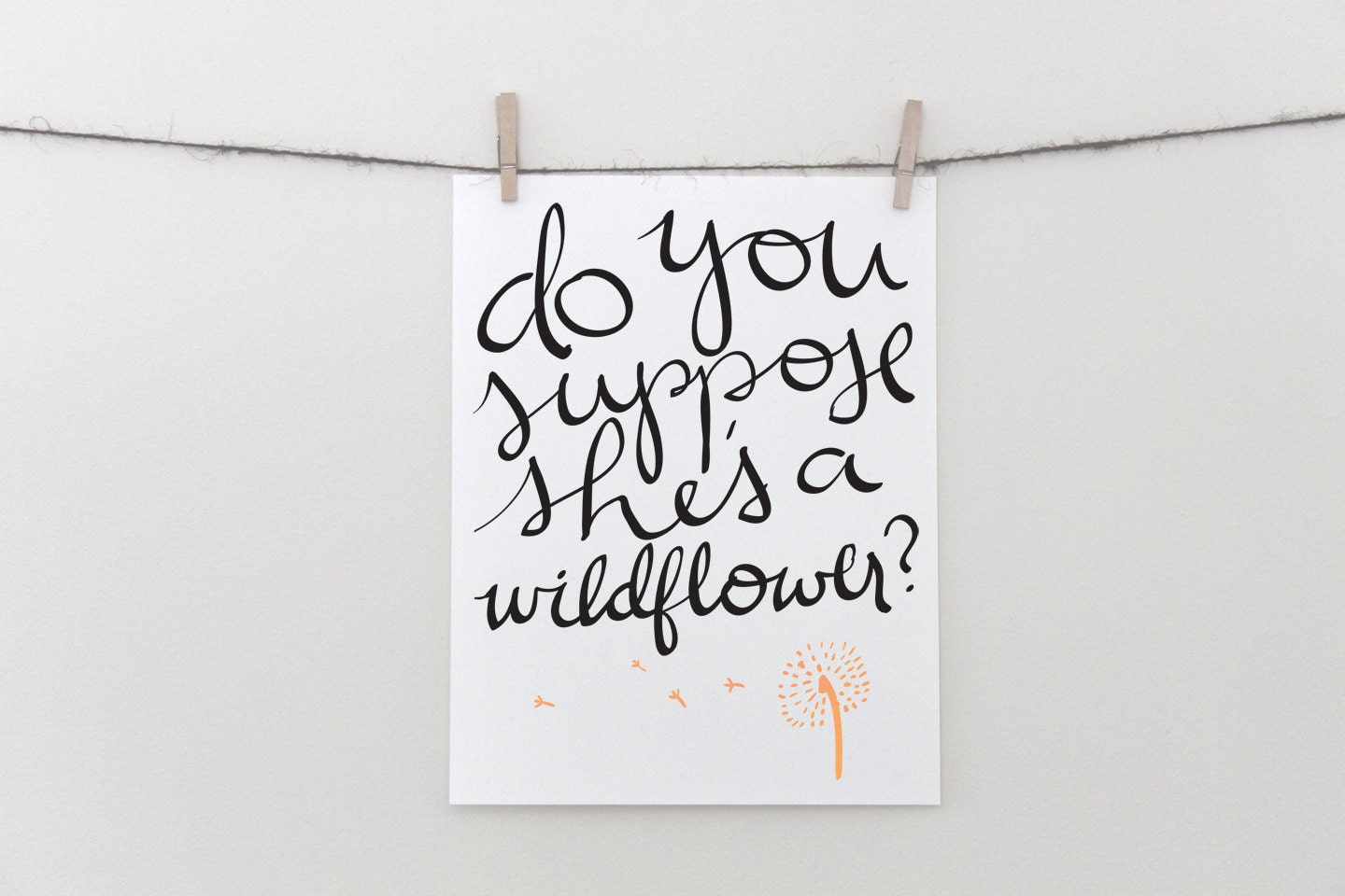 Quotes From Alice In Wonderland Alice In Wonderland Wildflower Calligraphy Quote Instant