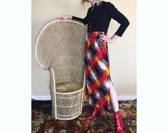 70s fiery maxi dress