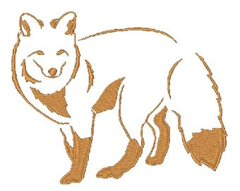 Woodland Fox Machine Embroidery Design Embroidery Designs Foxes Woodland Animal Designs 4X4 5X7 6X10 8X8 Instant Download Silhouettes