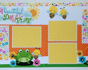 Scrapbook page - Scrapbook layout - Premade scrapbook page - Ohioscrapper - 12x12 scrapbook page - 12x12 premade scrapbook page - Scrapbook