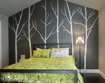 Winter Tree Wall decal , bedroom wall decal wall sticker vinyl art, wall decor - 036