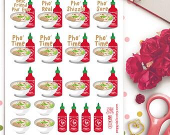 Pho Planner Stickers | Erin Condren | Kikki K | Filofax | Vietnamese Food | noodle soup | Asian Cuisine