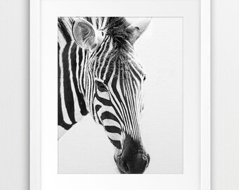 Zebra Print, Zebra Photography Black And White, Safari Animal, Modern Wall Art, Nursery Decor, Kids Room Wall Art, Home Decor, Printable Art