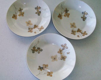 Rosenthal Wood Nymph Set Of 3 Coupe Soup Bowls