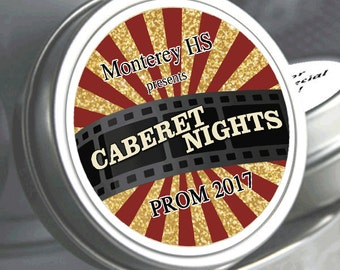 "12 Personalized Cabernet Night Prom Mint Tin Favors - Select the quantity you need below in the ""Pricing & Quantity"" option tab"
