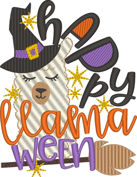 SAMPLE SALE, Happy Llama Ween Embroidered Halloween Shirt - Kids Halloween Shirt - Boys Halloween Shirt - Girls Halloween Shirt -Llama Shirt