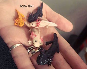 Handmade necklace axolotl