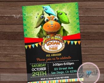 Dinosaur Party Invitation, Dinosaur Birthday Invitation, Train Birthday Party Invitation, Dinosaur Birthday Party Invitation, Digital File