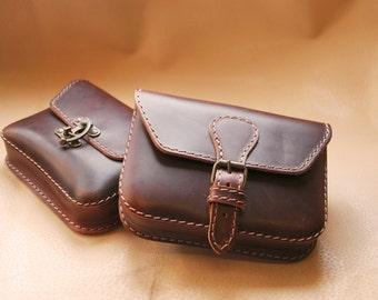 Box leather belt bag, leather belt bag, leather hip belt bag, festival belt bag, mens belt bag, women belt bag, belt bag