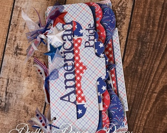 PRE-MADE American Pride Album - Premade  Keepsake Scrapbook - 4th of July Memories Album-4th of July Album