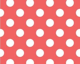 SALE-- Medium Dot-- ROUGE--One Yard- Riley Blake