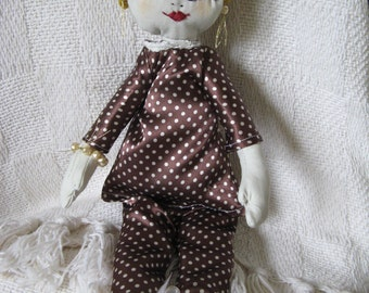 Little Rag Doll, Blonde Bonnie.  Small Cloth Doll - a rag doll looking for her forever love.