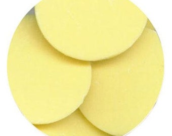 Yellow 16 oz Merckens Confectionery Coating - Chocolate Melts 16 ounce bag 1 lb pound bag Disks