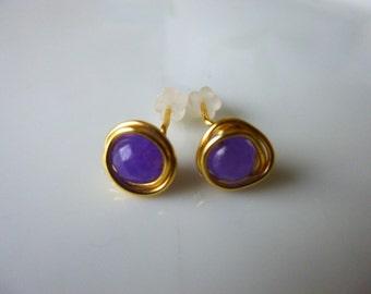 Alexanderite Stud Earings