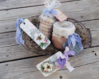 Lavender Hot Cocoa Mix ~ Hot Chocolate ~ Shortbread Cookies ~ Cocoa and Cookies ~ Gourmet Food Gift