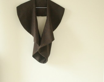 READY TO SHIP / wool vest / chocolate plaid / women / made in australia / pamelatang