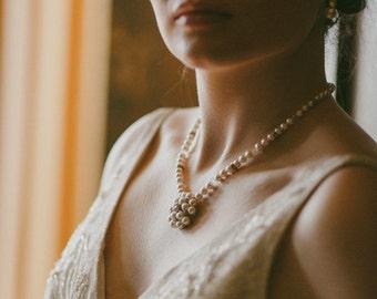 Pearl & Swarovski Crystal Embellished Necklace, MEREDITH