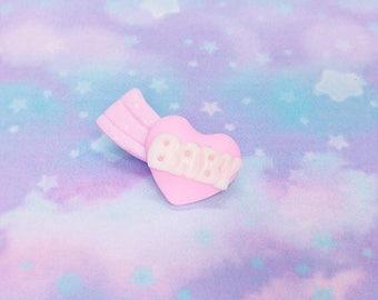 Kawaii Kei Fairy Kei Sweet Girl Falling Stars Shooting Star Resin Glitter BABY Heart Pastel Hair Clip Barrette