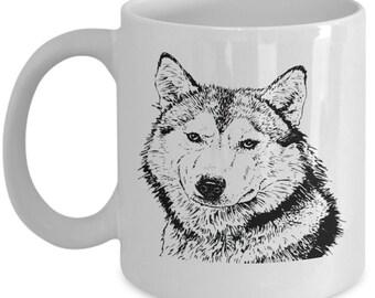Coffee Mug For Dog Lovers ~ Malamute Owner's Mug ~ Simple Malamute Mug ~ Dog Coffee Mug ~ Dog Cup