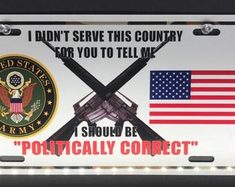 Veteran's front license plate