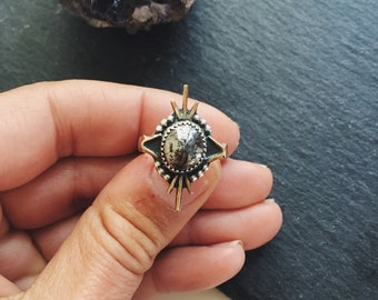 Niccolite STARBURST Ring // Size 6
