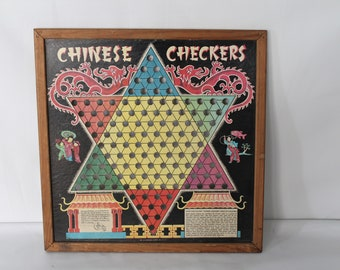 1930's Strait Chinese Checker Board