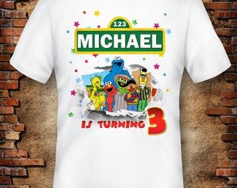 Digital file, Sesame Street Boy T-Shirt , Sesame Street Iron On Transfer, Sesame Street Birthday Shirt Printable, Sesame Street T-shirt
