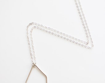 Geometric necklace, sterling silver, modern, minimal jewelry, eco friendly, pendant necklace - The Geometry of the Heart Necklace
