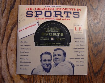 Greatest Moments in Sports Jack Dempsey Joe louis Knute Rockne Jesse Owens Babe Ruth Lou Gehrig Grantland Rice Clem McCarthy 1919-1947