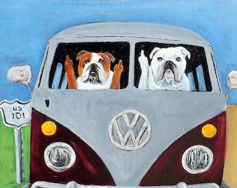 Fabulous Bulldog print | Etsy BH97