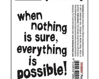 Darkroom Door Quote Stamp ~ Possible ~ *Junk Journals * Planners *Art Journals *Tags  *Free Shipping!*