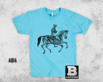 Skeleton Horse Rider T Shirt