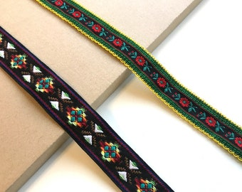 Jacquard trim (Soft touch; floral, tribal)