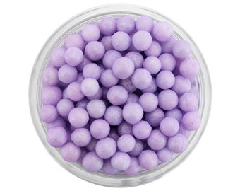 Pearly Light Purple Sugar Pearls - edible shimmer pastel purple sugar pearl sprinkles, pastel purple sprinkles, pastel purple sugar balls