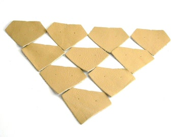 crafts genuine leather applique for accessories decorations jewelry bags decorative art kids diamond beige 10 pcs ebooba 23-1-2-U-Be