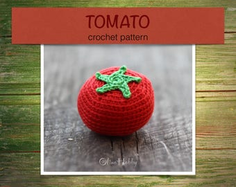 TOMATO Crochet Pattern PDF - Crochet tomato pattern Amigurumi tomato pattern Crochet vegetable pattern Crochet food pattern Play Food Tomato