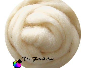 Needle Felting Wool Roving / NR4 Au Natural Carded Wool Roving
