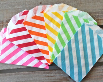 15 Diagonal or Polka Dot Small Bitty Bags- Pick Your Color