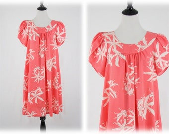 Vintage Hawaiian Mu Mu Dress by Blue Hawaii Medium