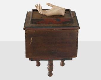 william vollers 'hand box' sculpture, william vollers sculpture, folk art sculpture, assemblage sculpture, primitive folk art, americana art