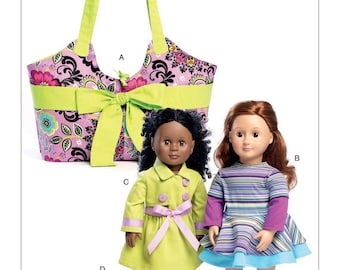 McCalls 7450- Sewing pattern for 18 Inch Doll Clothes- Fits American Girl Dolls