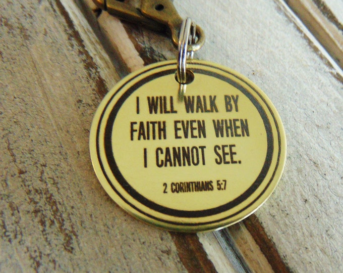 Bible Verse Custom Brass Keychain - Necklace Option , custom keychains, personalized key chain, keychain for him, keychain for her, keys