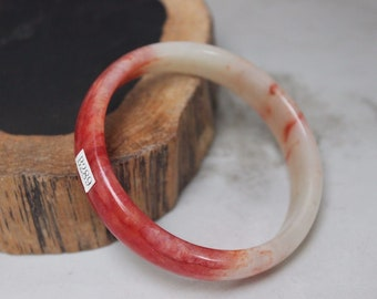 10% OFF- 58/59/60 mm Certified Natural Red Emerald A*Jade Handcarved Bangle B289