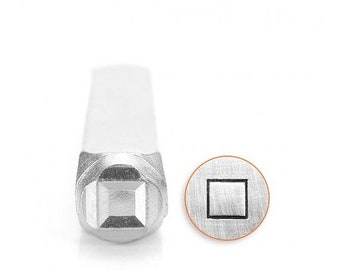 10% Off Clearance 6mm Square Metal Stamp, ImpressArt Shape & Pattern Design Stamp, Impress Art Stamps, DIY Jewelry Making Metal Stamping Too