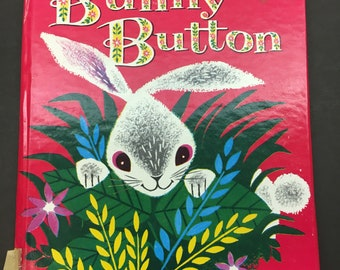 Bunny Button - A Whitman Children's Book - Vintage from 1953