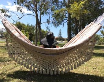 Tintoreo luxury hammock soft orange - Classic fringe - Worldwide free shipping